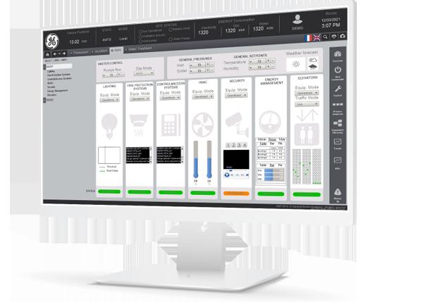 GE Digital Proficy Cimplicity operatørgrensesnitt.
