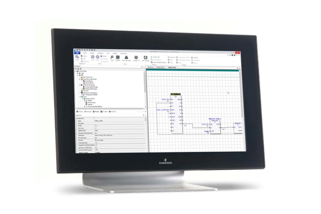Emerson Machine Edition Operatørgrensesnitt