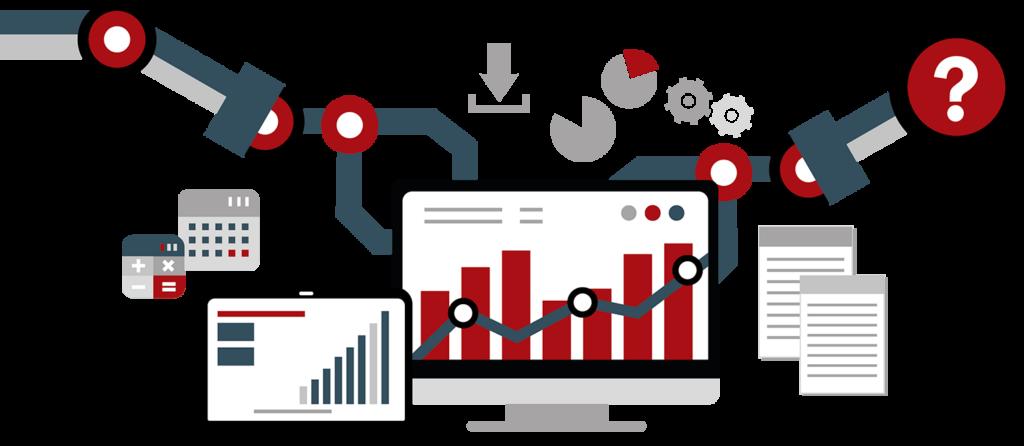 Grafikk: Analytics, AI og Machine Learning.