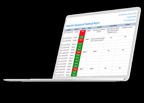 Mockup: Proficy Workflow rapporter.