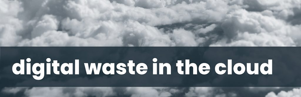 Data Fit For Purpose training - Digital waste in the cloud